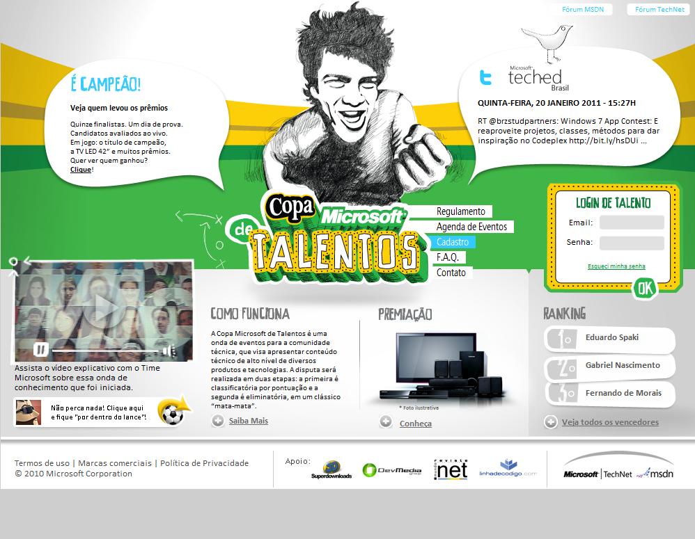 Projeto: Talentos Microsoft