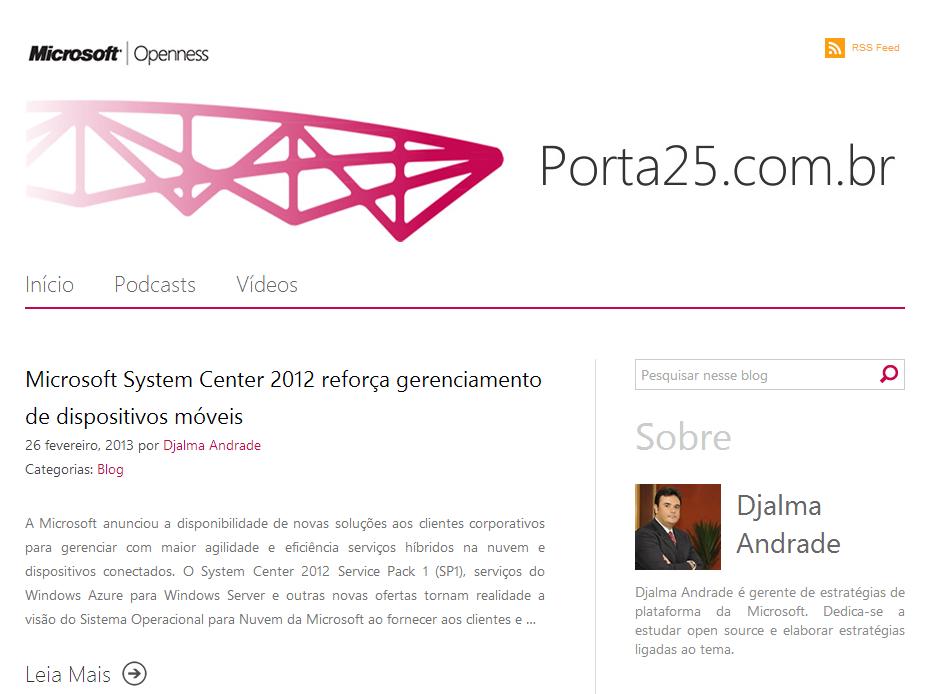 Projeto: Microsoft Open Source