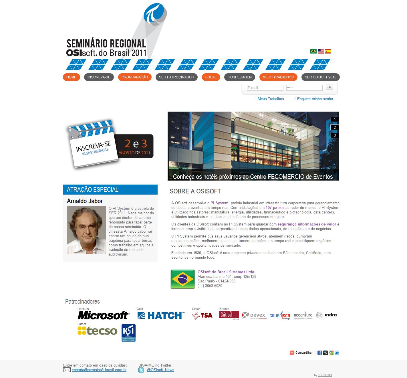 Projeto: Osisoft: Evento SerOsisoft 2011